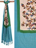 Multicolor Kalamkari Hand Painted Ikat Cotton Dupatta