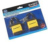 Blue Spot 70945 - Candados de seguridad con llave impermeables (40 mm, 2 unidades)