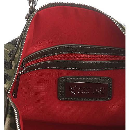 Sweet Years Borsa Donna - Mod. 2456 FLY Mimetico �?Rosso