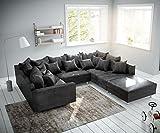DELIFE Couch Clovis modular - Ecksofa, Sofa, Wohnlandschaft & Modulsofa (Anthrazit, Sofa mit Hocker + Armlehne)