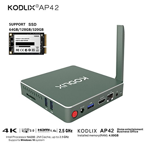 KODLIX-AP42-Intel-Apollo-Lake-Pentium-N4200-2M-cache-fino-a-25GHz-DIY-SSD-MINI-PC-Scheda-Grafica-505-Ram-4GB-Rom-575GB-1000M-LAN-24G-58G-Doppia-Banda-WIFI-BT-40-MINI-Supporto-Windows-10-Home-and-Linux