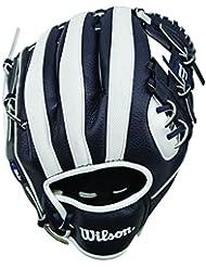 Wilson Team Sport A200 Mlb Nyy Gants de Baseball Mixte Adulte, Bleu Marin/Blanc, Taille 10