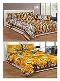 JMT 250 TC Cotton 2 Double Bedsheets wit...