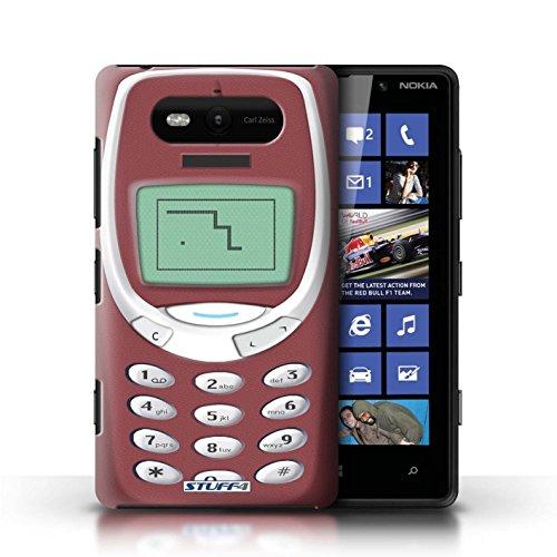 Hülle Case für Nokia Lumia 820 / Schwarzes Nokia 8210 Entwurf / Vintage Handys Collection Rotes Nokia 3310