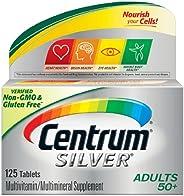 سنتروم سيلفر للبالغين من العمر 50 عامًا فأكثر ، قرص مكمل غذائي متعدد الفيتامينات 125.0 قرص