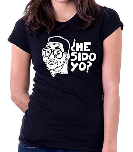 35mm - Camiseta Mujer - Steve Urkel - He Sido Yo ? - Women'S T-Shirt, NEGRA, XXL