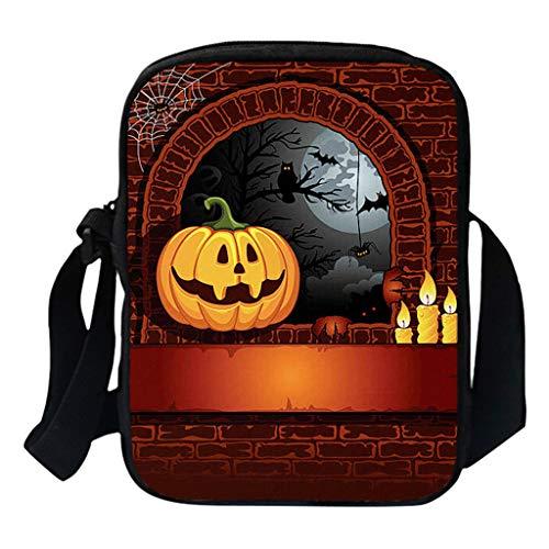 Bazhahei halloween borse a tracolla pumpkin donne e uomini moda zaino borsa da scuola