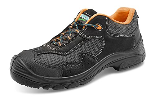 Laminada Zapatos B Grises Seguridad No Comerciantes clic Metálico De SSwqvfxUr