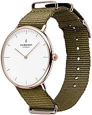 Nordgreen Native - Reloj analógico escandinavo de oro rosa con correas intercambiables de cuero o malla
