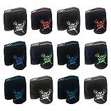 UOMO 6-9-12er Pack Pack Boxershorts Baumwolle Retroshorts Herren Sport Wear Unterhose Unterwäsche M L XL XXL XXXL (12er, XXL)