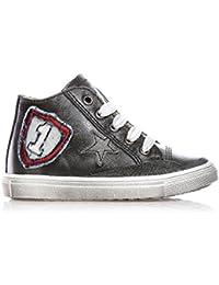 CIAO BIMBI - Sneaker grigia stringata in pelle bcecd7c3c27