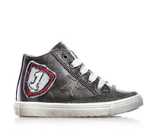 CIAO BIMBI - Sneaker grigia stringata in pelle, Bambino,ragazzo-29