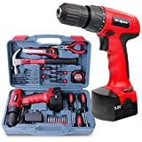 Apollo 26 Piece Household Tool Kit Including 12V Cordless Drill Driver with 800