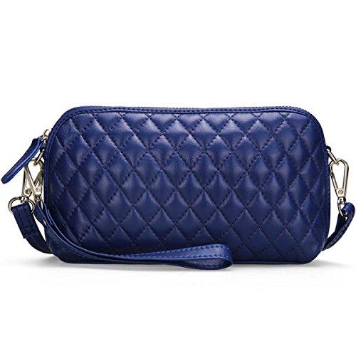 Luxus-Mode Lingge Kette Frau Messenger Europäische Und Amerikanische Frauen Tasche Blue
