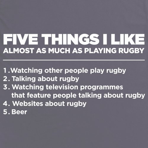 Five Things I Like - Rugby T-Shirt, Herren Anthrazit
