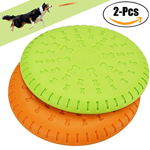 Frisbee Hund, Legendog 2 Stücke Weiches Silikon Hunde Frisbee Durable Training Hundespielzeug Set für Große Hunde 23 CM