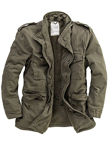 DELTA Industries Herren M65 Vintage US Fieldjacket Paratrooper, Oliv, L -