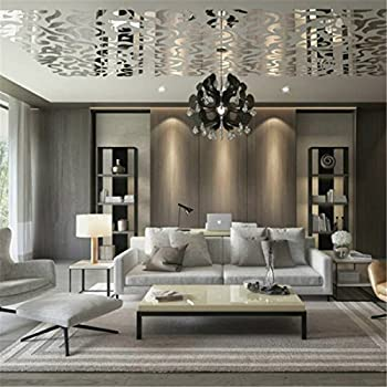 MY-Furniture Antiqued Mirrored Bevelled Wall Tiles: Amazon
