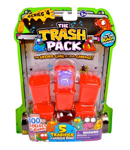 The Trash Pack Series 4 Wheelie Bins Random Figure 5 Pack