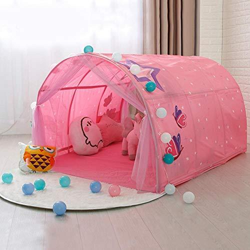 Ecisi Kinder Zelte Indoor Kinder Spielen Zelt für Kleinkind Zelt für Kinder, Kinder Bett Zelt Spiel Haus Baby Home Zelt Jungen Mädchen Spielzeug Indoor Outdoor Spielhaus Camping Tunnel Zelt
