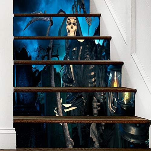DFGTHRTHRT 3D Simulation Treppenaufkleber entfernbare Wasserdichte Wandaufkleber Schlafzimmer Wohnzimmer DIY Tapete Wandabziehbilder (Color : WLT005, Size : OneSize)