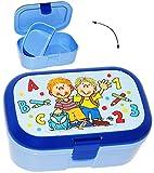 alles-meine.de GmbH Lunchbox / Brotdose -  Schule ABC - Jungen  - mit Extra Einsatz / herausnehm..