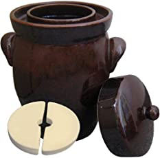 Original K&K Gärtopf 5,0 Liter - Form II - inkl. Beschwerungsstein und Deckel