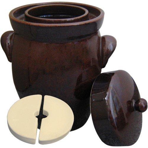 gaertopf 10 liter Original K&K Gärtopf 10,0 Liter - Form II - inkl. Beschwerungsstein und Deckel