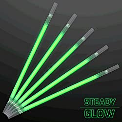 Green Glow Drinking Straws Pack Of 25