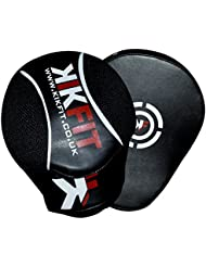 KIK FIT Black Curved Focus Pads Mitts, Hook and Jab,Punch Bag Kick Boxing Muay Thai MMA UFC(Free UK Shipping)