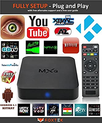 FULLY SET UP & Ready To View MXQ Quad Core Kodi 16 XBMC Android SMART TV BOX Fully Loaded MOVIES SPORTS UK Plug Wifi - Easy English Instructions Included