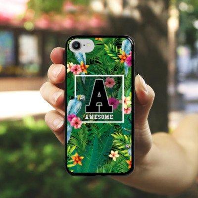 Apple iPhone X Silikon Hülle Case Schutzhülle Awesome College Blumen Hard Case schwarz