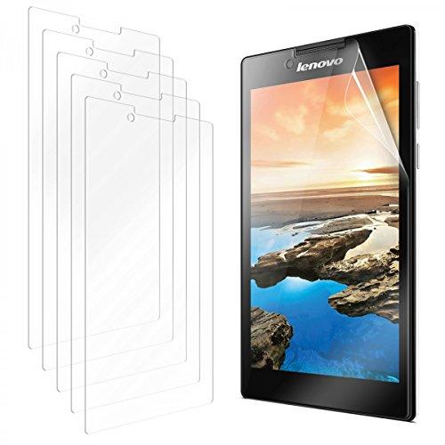 eFabrik 5 x Bildschirm Schutzfolie für Lenovo Tab 2 A7-30 Tablet Folie (7 Zoll) Set Zubehör mit Schutz vor Kratzer & Dreck, UV-Schutz, Anti-Beschlag Bildschirmschutzfolie Klar transparent