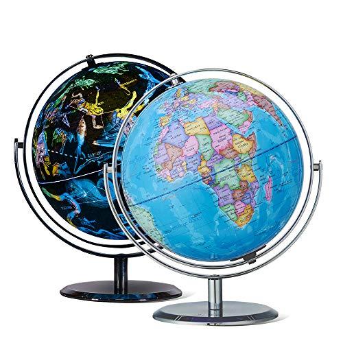 Constellation World Globe, beleuchtet, 2-in-1, interaktiver Globus mit Ständer Stars and Constellations Globe 9 Inch - Star Globe