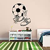 jiuyaomai Stivali da Calcio Calcio Palla Gioca Adesivi murali per vivaio Bambini Camera da Letto Sala Giochi Decalcomanie in Vinile Soggiorno Art Decor sodt Rosa 56x68 cm
