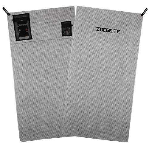 Zoegate Sporthandtuch Fitness-Handtuch fürs Fitnessstudio Mikrofaserhandtuch Mikrofaser Handtücher mit Reißverschluss-Taschen Gym Handtuch Fitness Handtücher