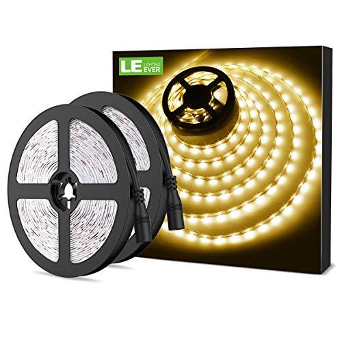 Moderne Zwei-licht-akzent (LE LED Streifen 12V 5m Selbstklebend, Leiste mit 300 Stück 3528 LEDs, 3000 Kelvin 1200 Lumen Warmweiß DIY Flexibel LED Band für Innen Heim Küche Feiertag, 2er Pack)