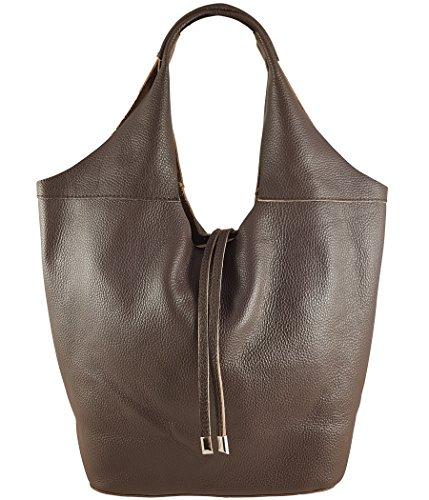 86f787138b95a Freyday Echtleder Shopper mit Schmucktasche in vielen Farben Schultertasche Damen  Henkeltasche.