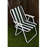 Hamble BB-FC110 - Silla plegable de campo, color verde y blanco