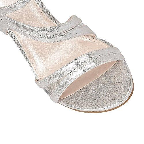 Lotus Hendren Silbrig Schimmernd Riemchen-Sandalen Silber