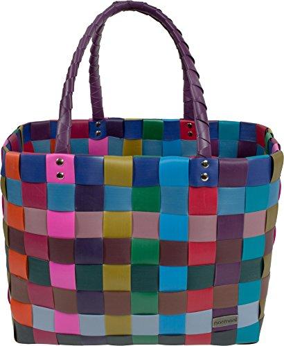 Einkaufstasche geflochten mit Henkeln - Tragetasche extra robust Farbe Classic / Konfetti