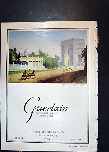 antiker-druck-von-strickjacken-1953-guerlain-parfum-paris-pringle-schottland