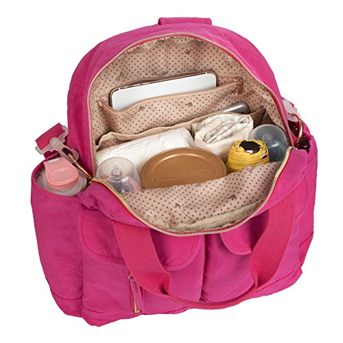Barbie Zaino da Viaggio per Mamma e Papà Multifunzionale e Grande capacità dalla Serie di Fashionistas Colore Rosa Blu Rosso-Violaceo #BBBP180 Rosso-Violaceo