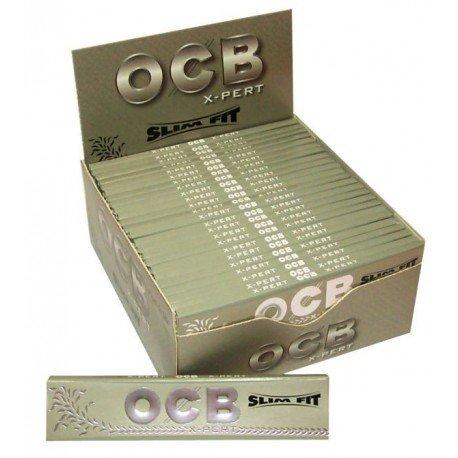 OCB X-Pert Slim Fit Silber Zigarettenpapier lang 10Pakete