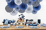 Partyset Komplettset Maritim Pastel Farbe blau 53 teilig für 6 Personen Partygeschirr Geburtstag Kindergeburtstag Teller Becher Servietten Party Deko rosa