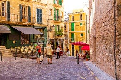 druck-shop24 Wunschmotiv: Romantische Gasse in Palma de Mallorca #85756102 - Bild auf Leinwand - 3:2-60 x 40 cm/40 x 60 cm