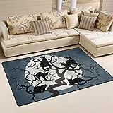 yibaihe Dekorative Leicht bedruckt Bereich Teppich Teppich Fußmatte Fußmatte Katzen in der Baumstamm wasserabweisend rutschfest waschbar für Wohnzimmer Kinder Schlafzimmer Eingangstür Innenbereich 78,7x 50,8cm, 100 % Polyester, 60x39 inch