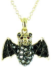 Bauchnabel Piercing Schmuck Fledermaus Flügel mit Kristall Gothic Bat Rot