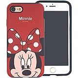 Funda iPhone 7 Plus [Protección híbrida contra caídas] DISNEY Minnie Mouse Linda Doble Capa Hybrid Carcasas [TPU + PC] Parachoques Cubierta para [ Apple iPhone7 Plus ] - Minnie Mouse Look Down