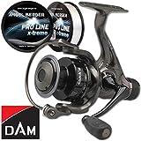 Angel-Berger Dam Quick 2 RD Spinnrolle gratis Pro Line x-Treme Schnur (3000)